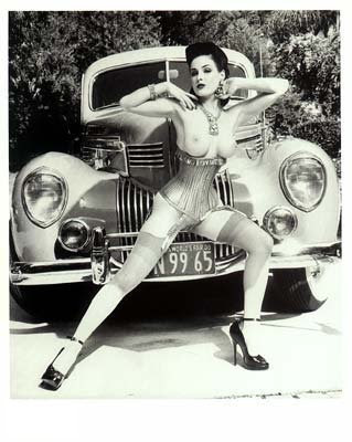 and naked women Vintage cars