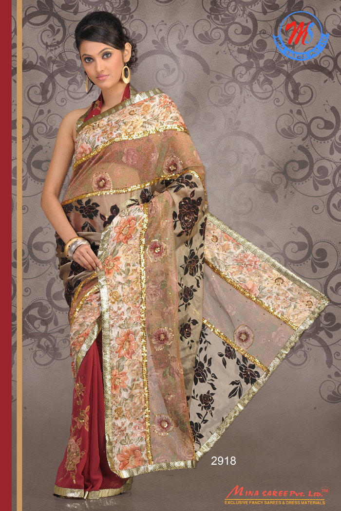 Embroidery designs fancy sarees