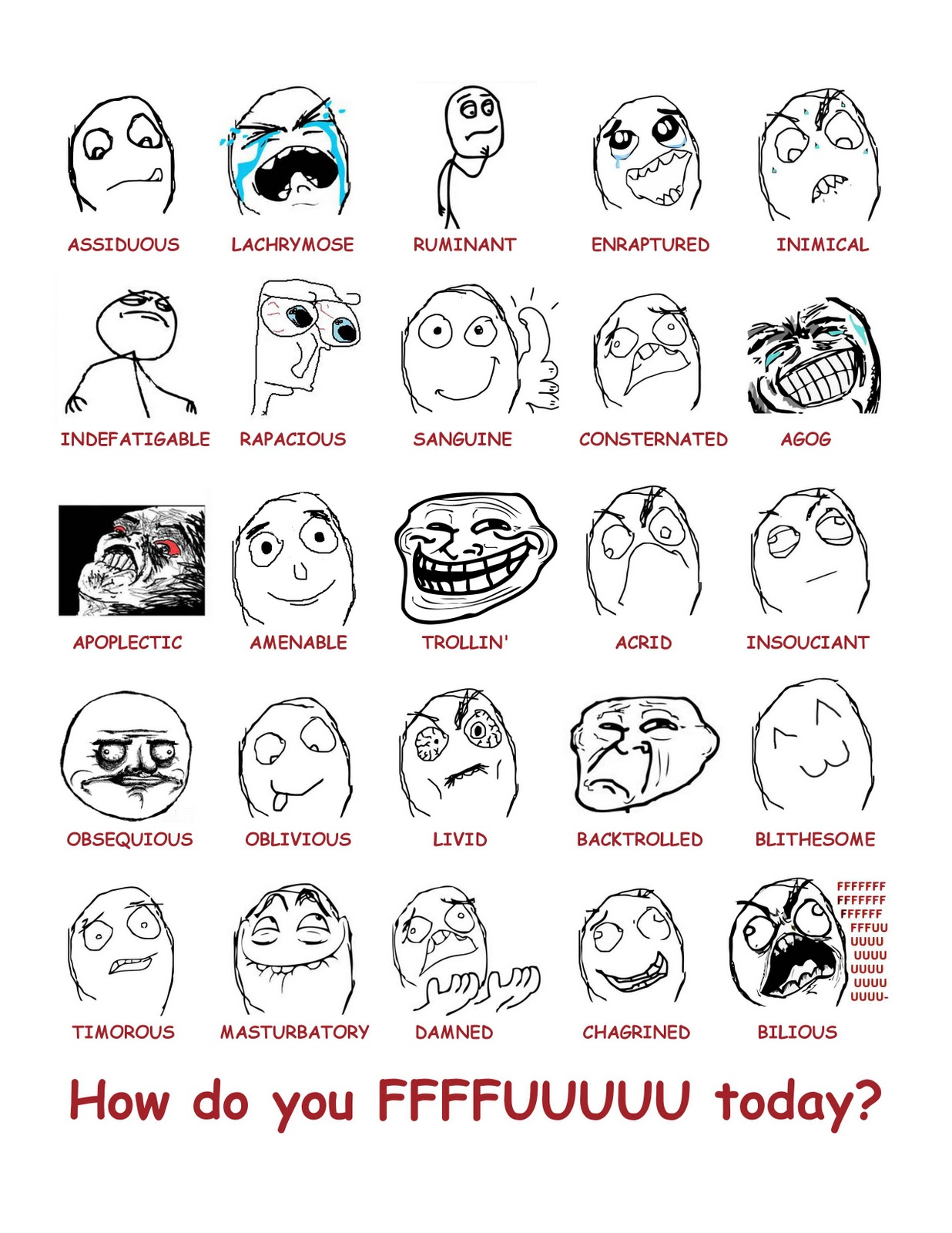 all troll faces