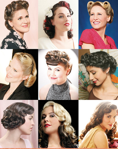 50s hairstyle. Hairstyle first part