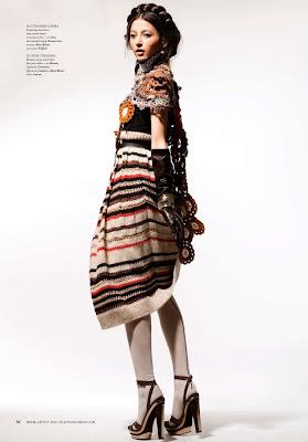 Evelina Mambetova by Ryan Yoon for Playing Fashion July/August 2010