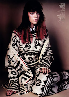 Meghan Collison and Fei Fei Sun by Josh Olins for Vogue China October 2010