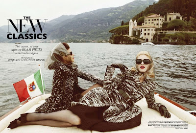 Melissa Tammerijn and Tati Cotliar by Benjamin Alexander Huseby for Harpers Bazaar US October 2010