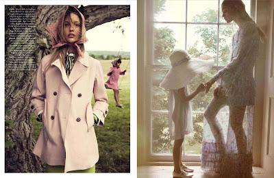 Sasha Pivovarova by Mikael Jansson for Vogue Paris November 2010, part 2