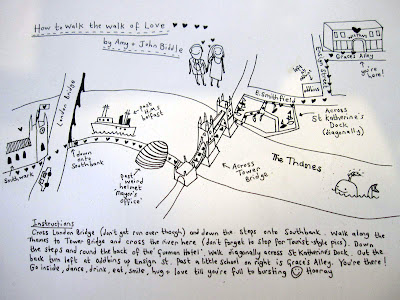 Vows Love on Walk Of Love  Map By Sally Leach