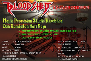 Jemputan Perasmian Dan Pembukaan Studio Bloodshed