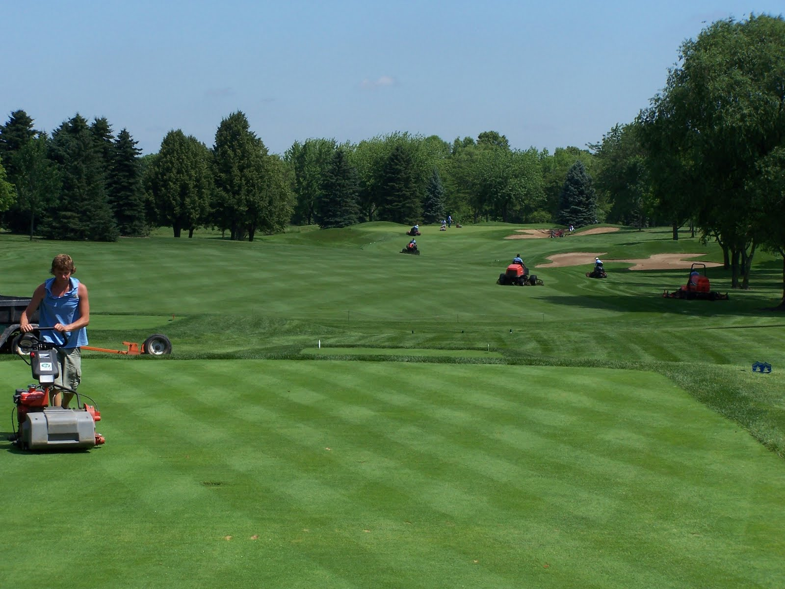 North shore country club golf course maintenance