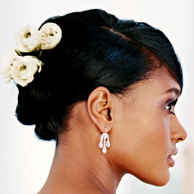African American Wedding Hairstyles Hairdos Floral Updo