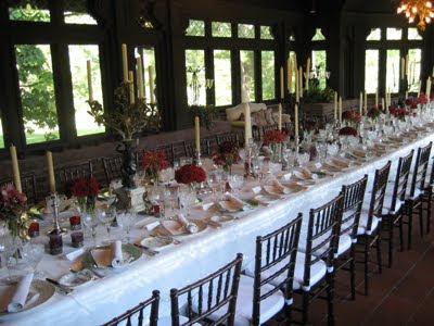 Show me 8 banquet tables decorated photo 1487185-4