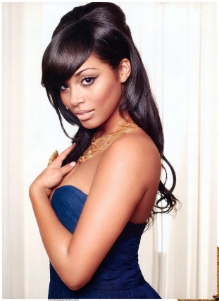 Half up/half down with a bump - as worn by Lauren London.