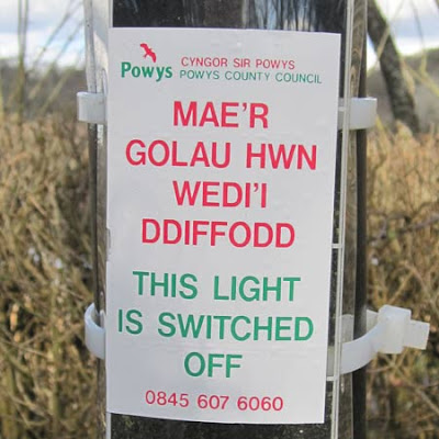 Powys Street Lighting cuts