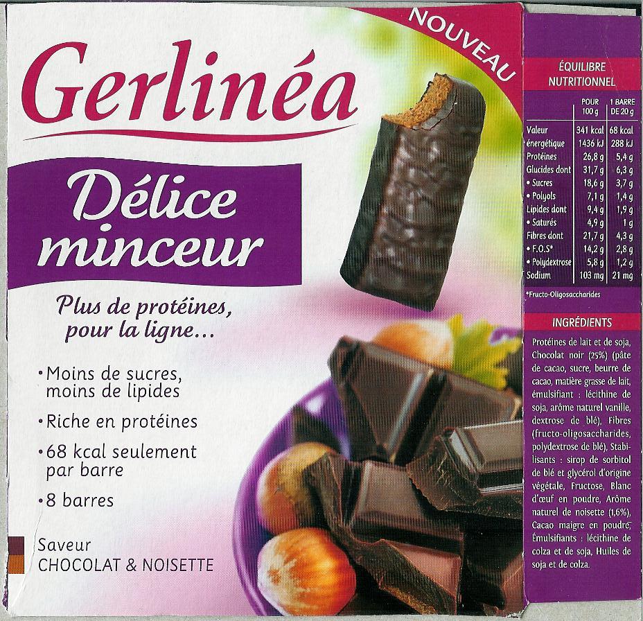 Mincir et Sport: Gerlinéa Délice minceur protéine saveur