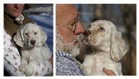 Melissa and Bob with Pups