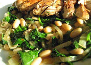I Challenge Any Rachael Ray Critics To Find Something Wrong With This Recipe For Balsamic Chicken With Wilted Spinach And White Beans Not Posted Online