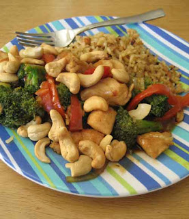 Yum, But not Yum-0: Orange-Cashew Chicken with Broccoli