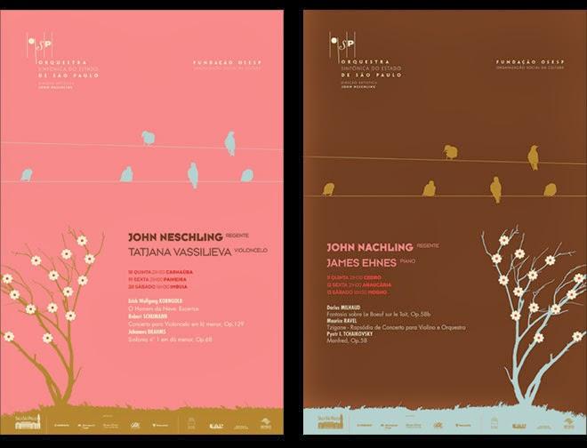 cartazetes de programação para osesp - outubro 2007