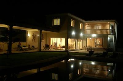 location de villa chambres d 39 h tes eclairage exterieur