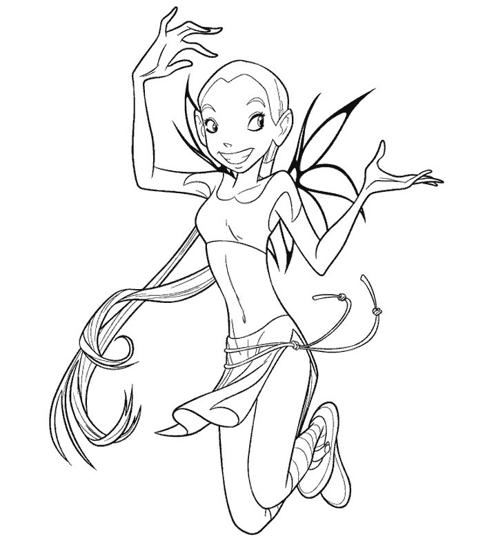 jetix witch coloring pages - photo#2