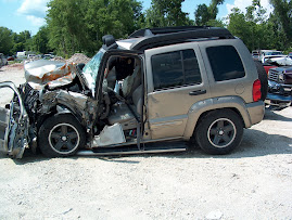 My Jeep after the crash