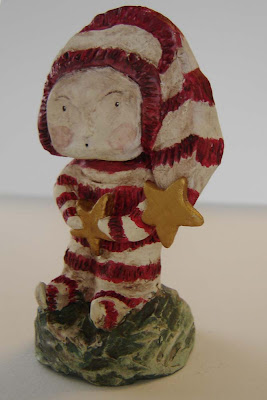 Whimsical Art Doll Folk Sculpture