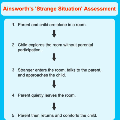 the study of the attachment by Mary ainsworth's (1971, 1978) observational study of individual differences in attachment is described below strange situation procedure the security of attachment in one- to two-year-olds were investigated using the strange situation paradigm, in order to determine the nature of attachment behaviors and styles of attachment.