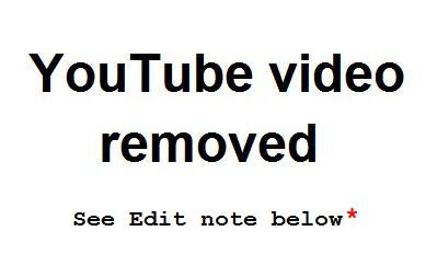 YouTube video removed 11 Dec 2010