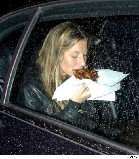 Female Model eating Junk. 02