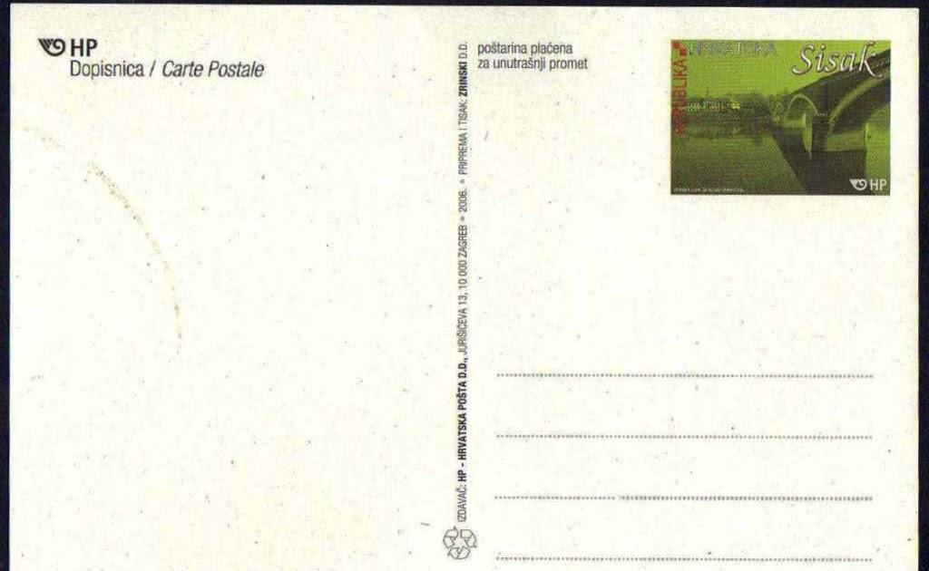 l 39 enveloppe 1er jour plus qu 39 un timbre carte postale pr affranchie de croatie. Black Bedroom Furniture Sets. Home Design Ideas