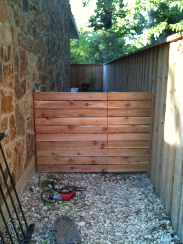 The Urban Dirt Farmer: Modern Fence Gate