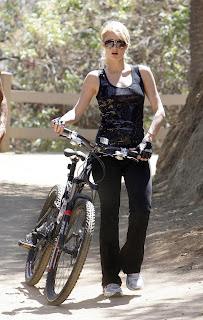 Paris Hilton mountain biking - Celebrity Gossip