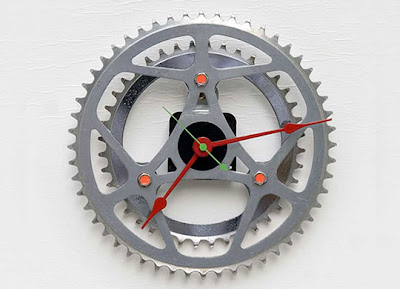 Clocks Made From Bike Parts