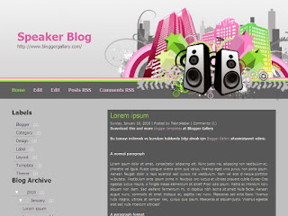 blogger themes, deluxetemplates, music themes