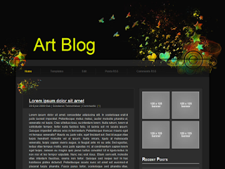 blogger theme, art theme, artblog template
