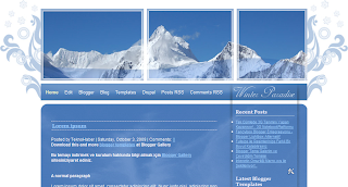 blogger themes, winterparadise blogger, winterparadise css, paradise template, paradise blogger