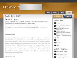 literane, blogger templates, wp to blogger themes