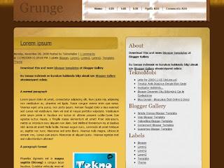 blogger templates, 2 columns, grunge blogger templates