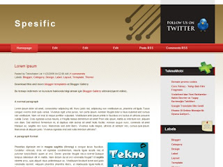 specific, blogger templates, 2 columns