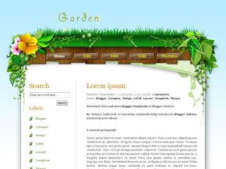 garden templates, blogger templates, left sidebar, 2 columns