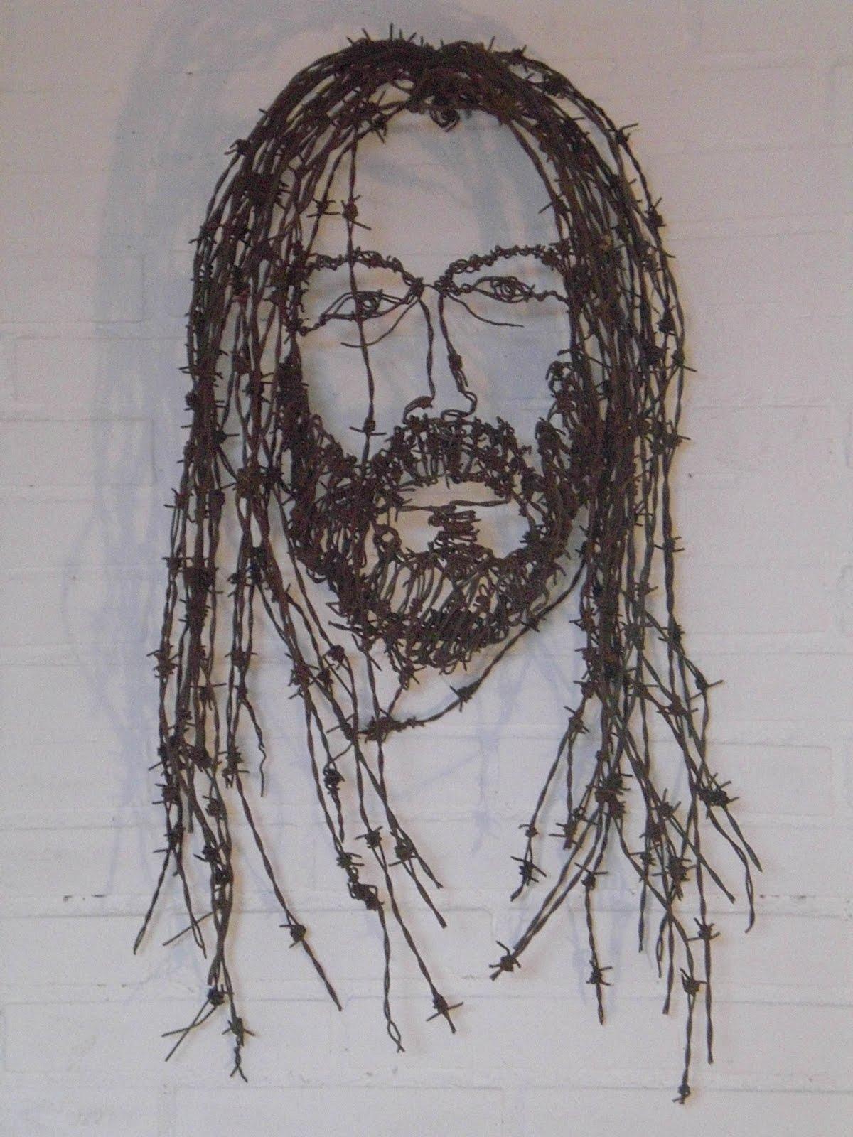 Arte en alambre Cristo+de+alambre