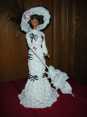 Fashion Doll Showstoppers crochet patterns fit Barbie items in
