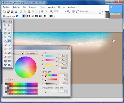 Imagen Degradado Paint.NET
