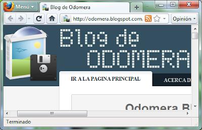 Imagen: Odomera Blog - Firefox Botón Transparente