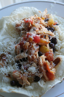 Mango Salsa Chicken Burritos