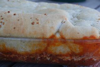 Upside Down Pizza Casserole ohsweetbasil.com