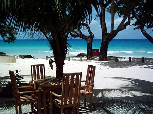 Ex Latino Bar at Beauvallon Beach, Mahe, Seychelles