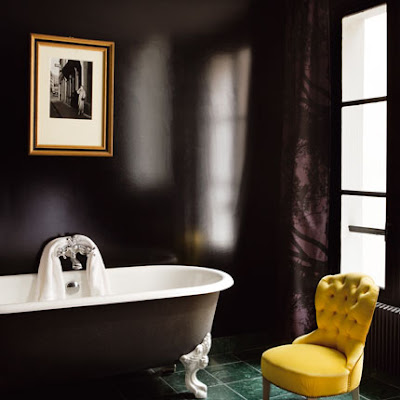 Grayson a different shade of grey design yummy colour for Dark purple bathrooms