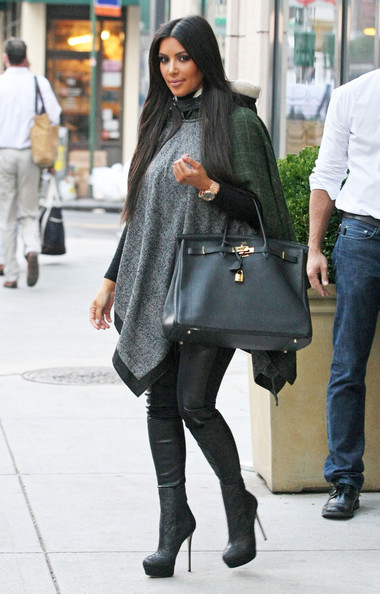 As Told By Becca Kim Kardashian Poncho And Long Boots