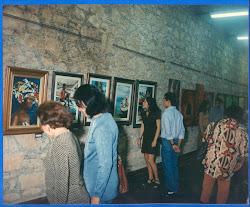 Exposição  de  ex-alunos  na  galeria  de  arte  da  igreja  de  São  Bento
