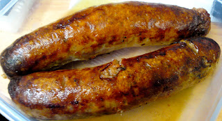Tuscan sausages from Jonathan's, eaten at work