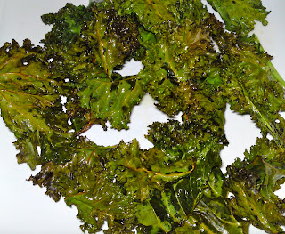 Friday's snack - kale chips!